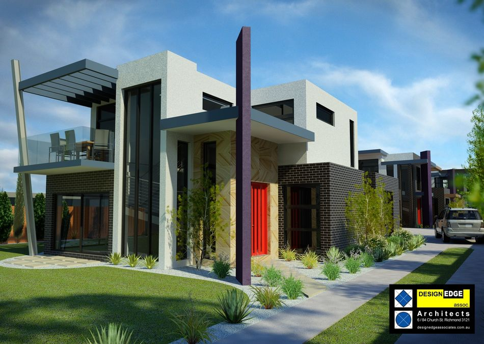 House plans and design architectural designs for townhouses for Modern townhouse plans